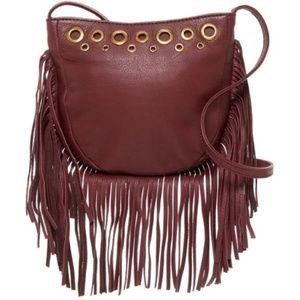 Hobo Whisper Leather Crossbody Fringe Festival Bag